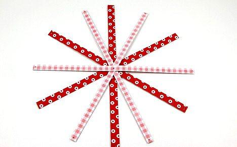 Шар состоит из 6 полос. Длинну и ширину полосы - сами выбираете.