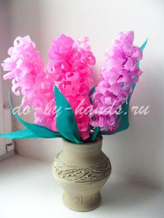 Весенние цветы из бумаги гиацинты (1)