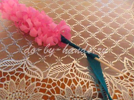 Весенние цветы из бумаги гиацинты (16)