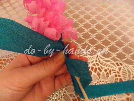 Весенние цветы из бумаги гиацинты (20)
