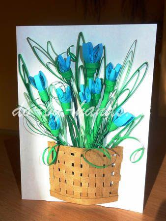 цветы из бумаги подснежники (2)