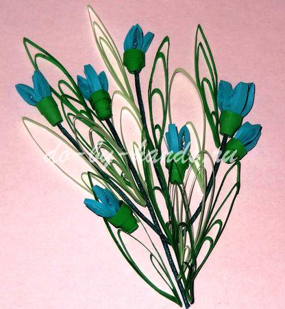 цветы из бумаги подснежники (3)