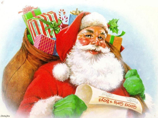 Детские стихи про Деда Мороза короткие и длинные