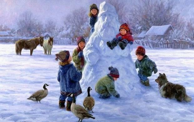 Детские стихи про зиму длинные