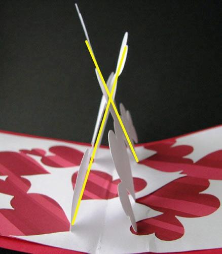 Киригами сердце схема 1