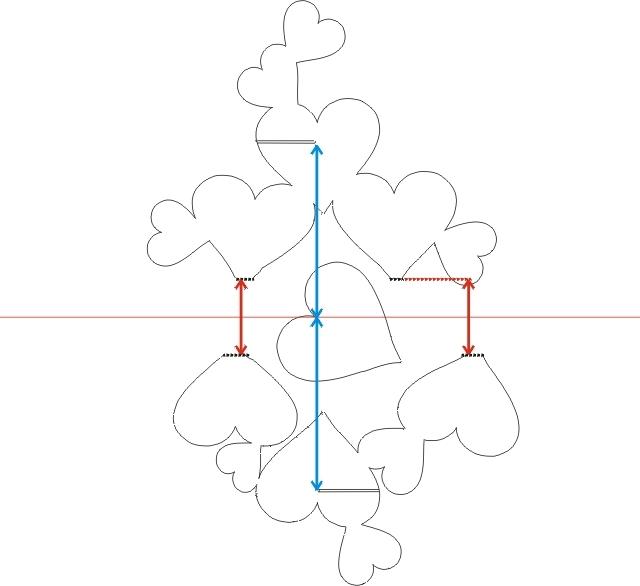 Схема киригами сердце