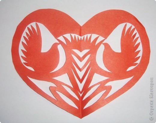 Киригами сердце своими руками (3)