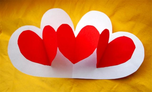 Киригами сердце своими руками (4)