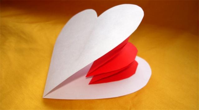 Киригами сердце своими руками (6)