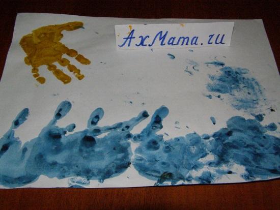 рисунки с помощью отпечатков рук