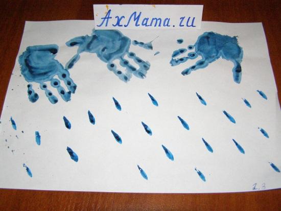 рисунки отпечатками рук