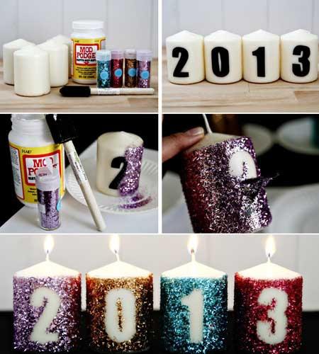 Новогодний декор свечей своими руками