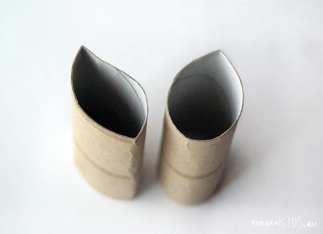 Отпечатки с помощью рулонов от туалетной бумаги (3)