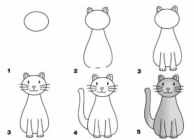 Рисунки животных карандашом для малышей