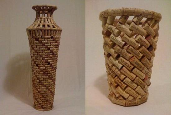 ваза из винных пробок