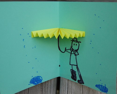 Простые объемные открытки с бумажной гармошкой (1)