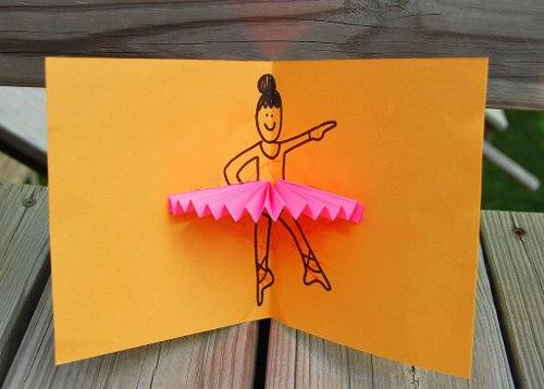 Простые объемные открытки с бумажной гармошкой (6)