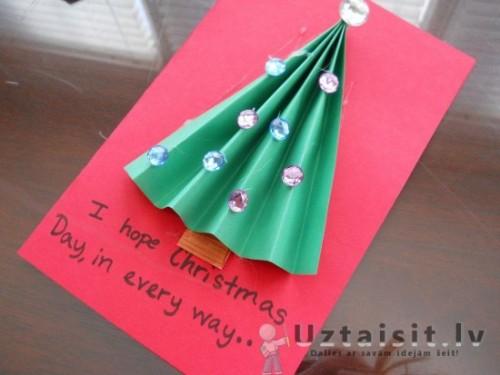 Простые объемные открытки с бумажной гармошкой (4)
