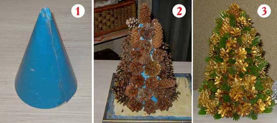 Новогодние поделки из шишек (4)