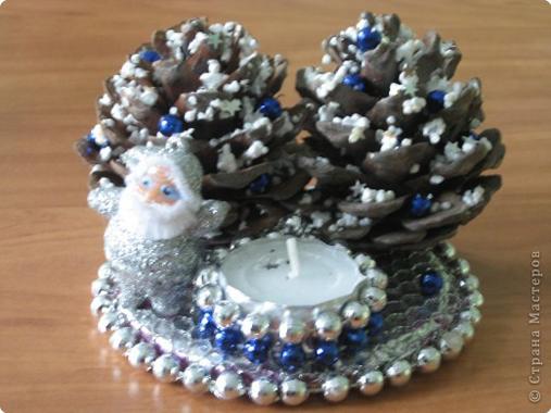 Новогодние поделки из шишек (3)