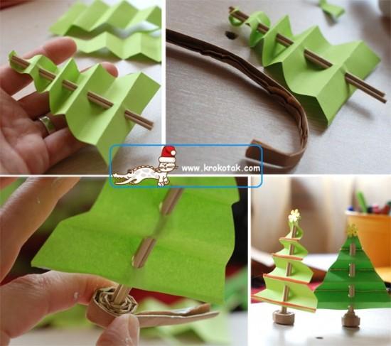 Новогодняя елка из бумаги поделки 2