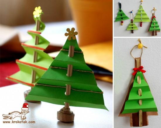 Новогодняя елка из бумаги поделки 3