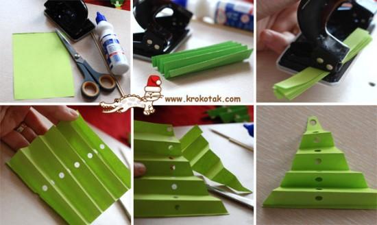 Новогодняя елка из бумаги поделки