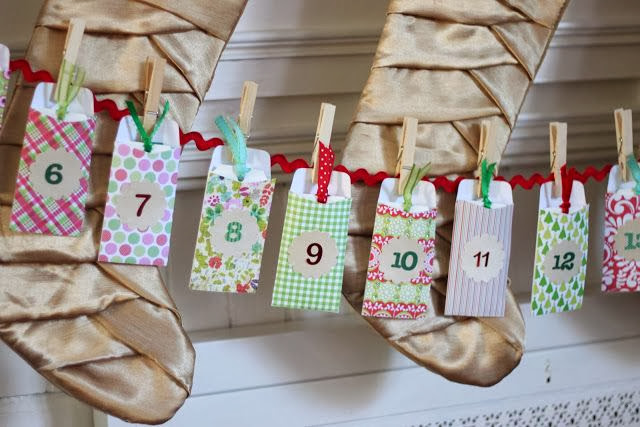 адвент календарь своими руками для детей