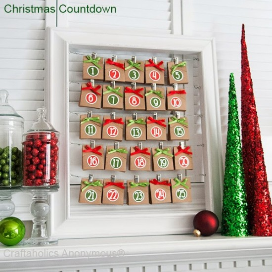 Как сделать рождественский календарь своими руками 5